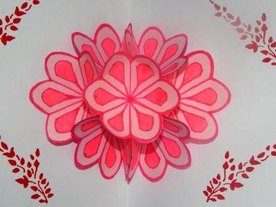 DIY 3D FLOWER POP UP CARD TUTORIAL ||  DIY Mother's Day Card