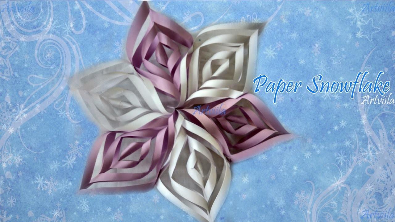 Diy 3d paper snowflake tutorial for Diy paper snowflakes 3d