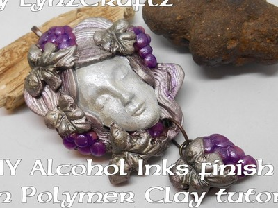 DIY Alcohol Ink finish on Polymer Clay tutorial