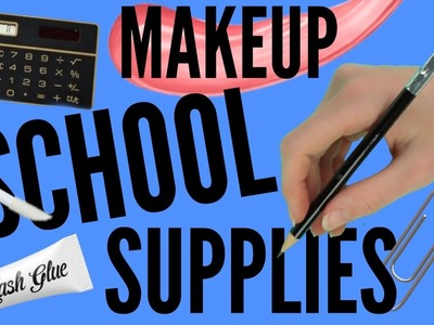 DIY Back To School Makeup School Supplies part 5 | pastella28