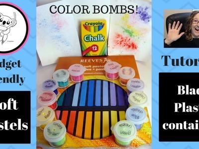 DIY Brushos DIY Color Bursts DIY chalk based color bombs!
