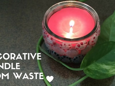 DIY: Candle making from waste