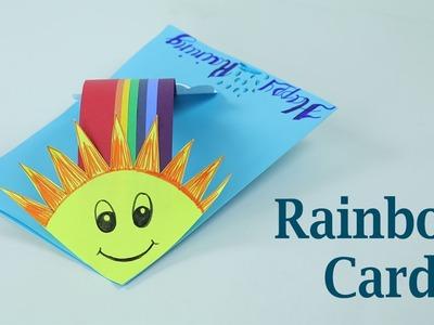 DIY Card Tutorial- Making Rainbow Card for Rainy Morning Greetings