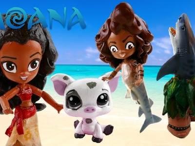 DIY Compilation Disney Moana, Pua and Maui Toy Custom My Little Pony Equestria Girls Minis Tutorial