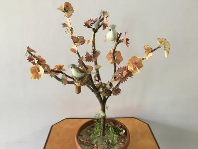 DIY | Craft - #Bestoutofwaste #DIY #Tree using #PencilShavings and a #Kitchen #tip | Episode - 11