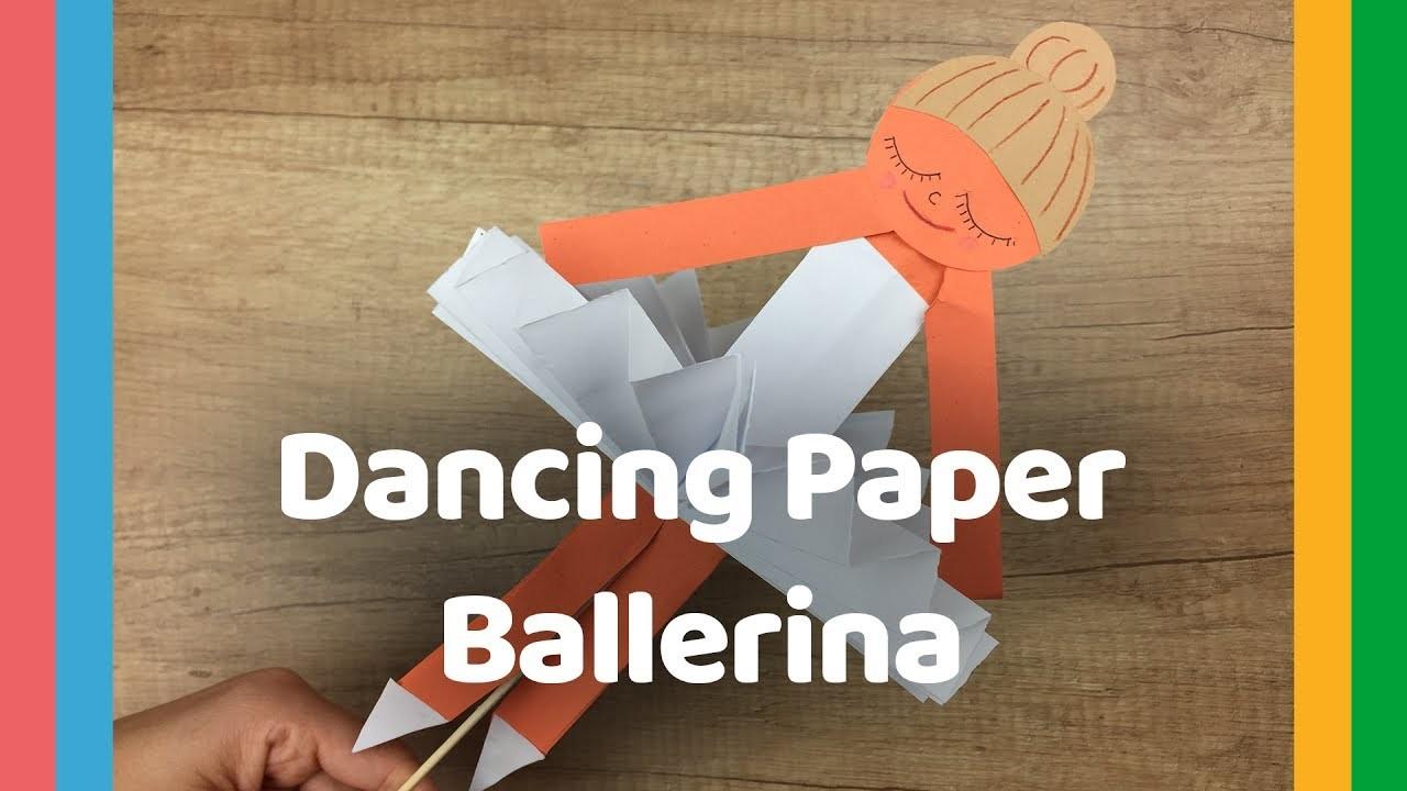 Diy craft for kids dancing paper ballerina my crafts and for Diy paper crafts for kids