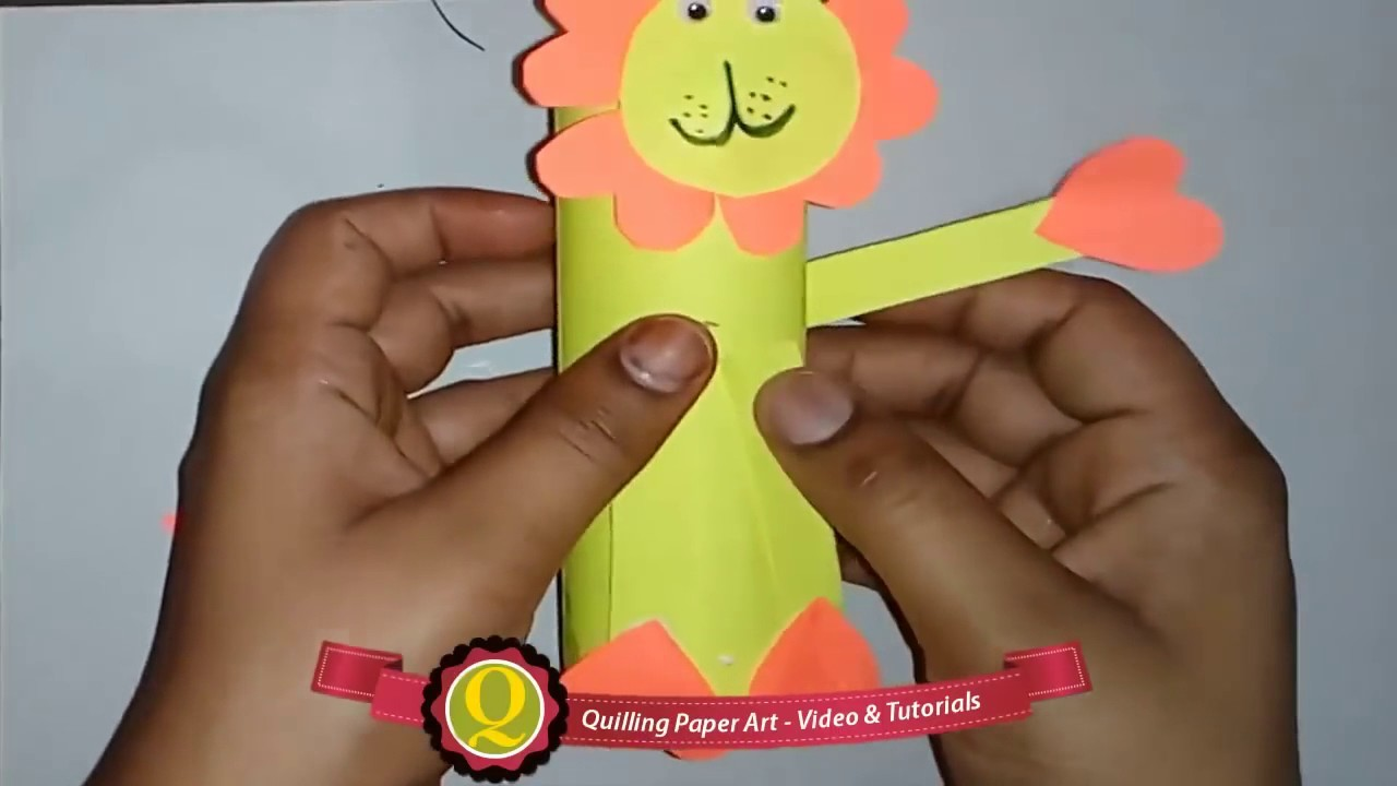 DIY Craft Ideas-How to make Beautiful Lion Animal Craft For Kids Lion -Paper Craft tutorial