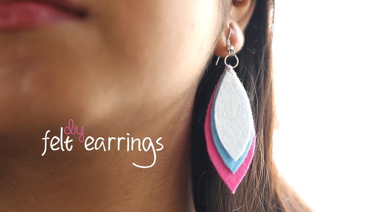 DIY: Easy Felt Earrings