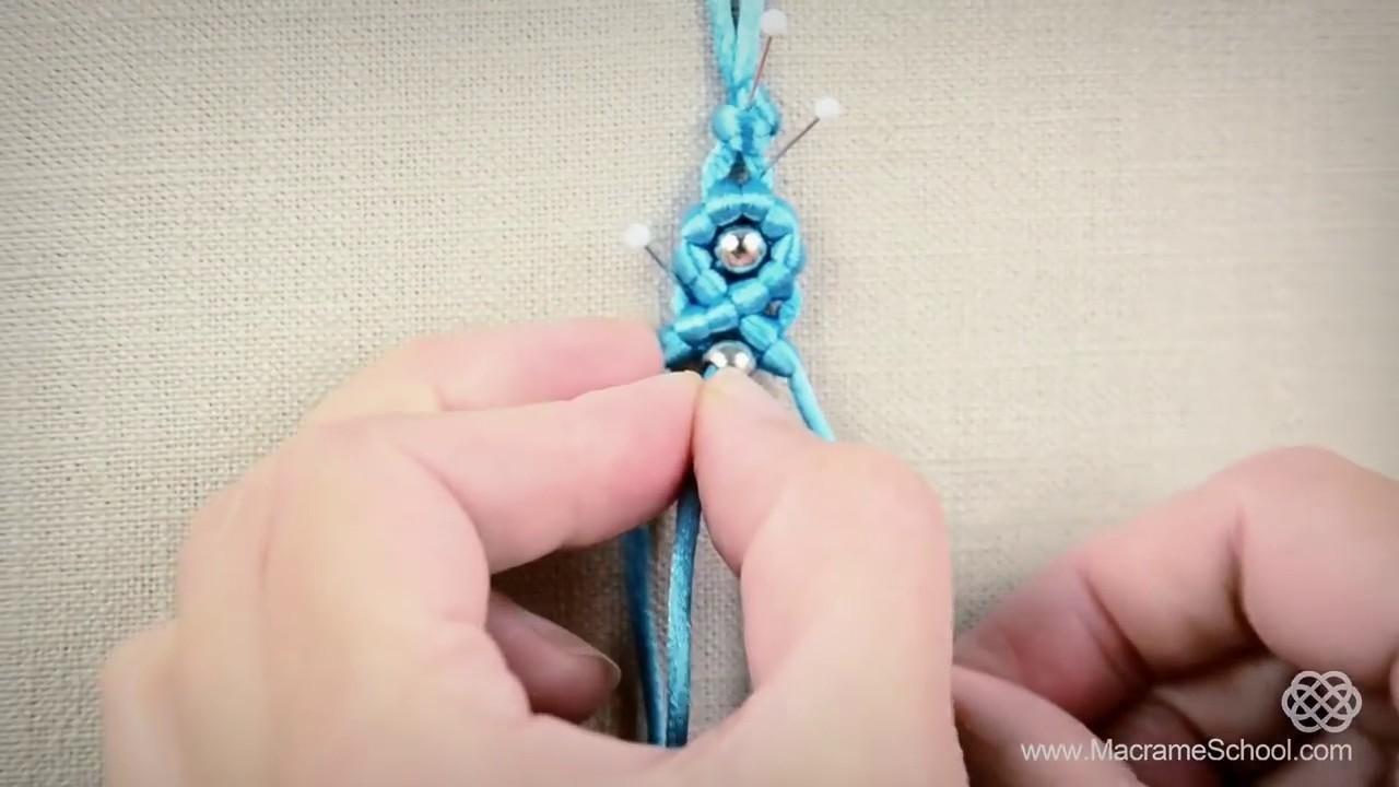 diy easy macram233 eternal wave bracelet with beads tutorial