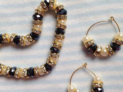 Diy easy pearl bracelet & Earrings | how to make bracelet | Easy diy Jewellery