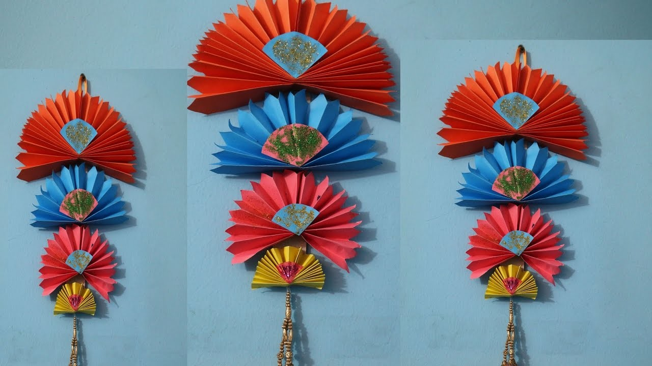 Wall Hanging Craft Design : Diy easy wall hanging craft ideas using colour paper