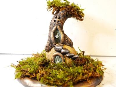 DIY Fairy Tree House and Garden