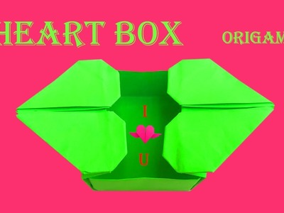DIY Father's Day Origami Gift ???? How to make Cute HEART BOX ???? Step by step instruction for beginner
