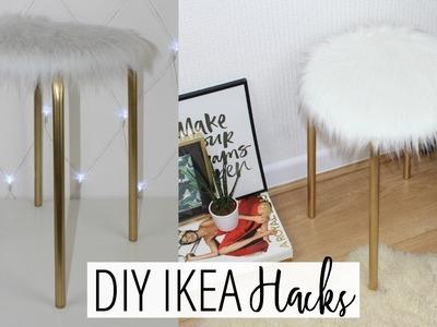 DIY FAUX FUR STOOL - EASY & AFFORDABLE! | Ikea Hacks Ep. 1