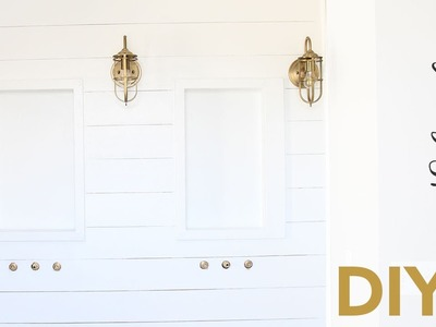 DIY Faux Shiplap Wall - Master Bathroom - Husband Voiceover
