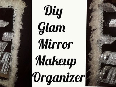 《DIY》 Glam Mirror Makeup Organizer With Floating shelves