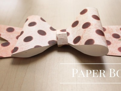 DIY : How to Make a Paper Bow |  Easy Craft | Paper Craft