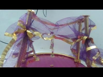 DIY : How to make Bridal Wedding Sari Gift Pack Handmade Art Craft Work