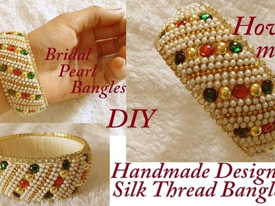 DIY || how to make designer bridal silk thread bangles at home || designer bridal bangles