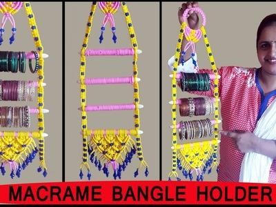 DIY  How to make Macrame Bangle Holder | Macrame Art School | FULL STEP BY STEP VIDEO TUTORIALS