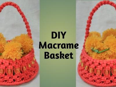DIY- How to make macrame Basket tutorial