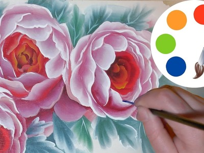 DIY How to paint  flowers on the box, one stroke, irishkalia
