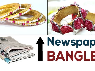 DIY Jewelry: Best out of Waste Newspaper DIY Bangles | Paper Jewellery Ideas