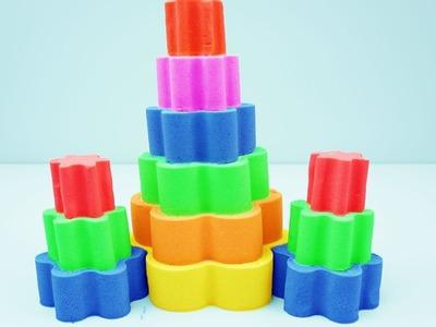 DIY Kinetic Sand Popsicles VS Kinetic Sand Rainbow Learn Colors Finger Family Song Nursery Rhymes
