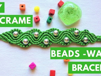 DIY Macrame Bracelet tutorial  - The Beads wave -  By tita knitting handmade