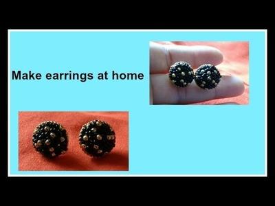 DIY : Making earrings at home | खूबसूरत कानकी बाली बनाना सीखिए | making of Earring Studs at Home