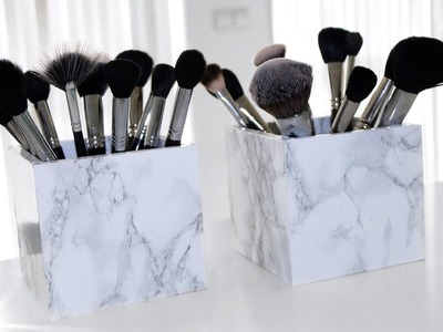DIY marble makeup brush holder | EASY | Sabrina Anijs
