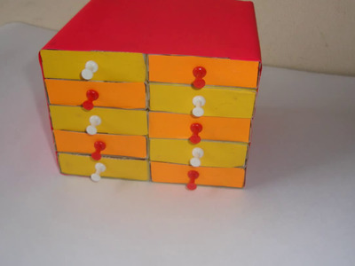 DIY Matchsticks box craft.matchbox easy drawers. crafts ideas for kids. art and craft.