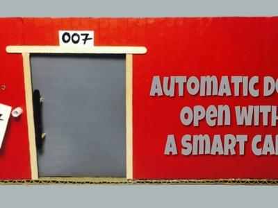 DIY Mini hotel door auto-slide with a smart card.