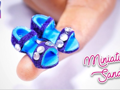 Diy miniature flip flop sandals - Miniature Craft Tutorial | Artkala181