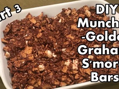 DIY Munchies Part 3 -Golden Graham S'mores Bars