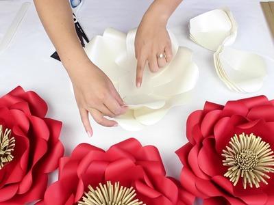 """DIY Paper """"Tiffany"""" Flower Tutorial - My Wedding Flower Backdrop"""