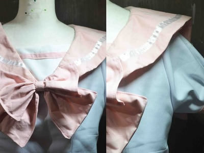♣ DIY Pastel Sailor Uniform Tutorial Ep 5 ♣ Basic japanese Seifuku
