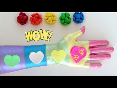 DIY Play-Doh Learn Make Rainbow Palm Finger Painting Chocoball Toy Soda