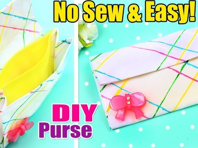 DIY PURSE NO SEW Cute Wallet Tutorial for Girl & Woman | NARCISSUS