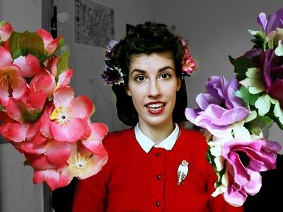 DIY Retro Flower Hairclips Tutorial