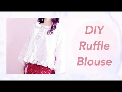 DIY Ruffle Blouseㅣmadebyaya