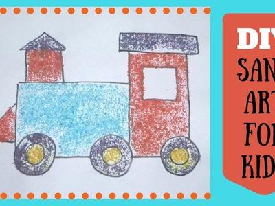 DIY Sand Art Pictures for Kids - DIY Sand Art Craft With Salt