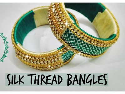 DIY silk thread bangles    How to make silk thread bangles       SILK THREAD JEWELLERY   
