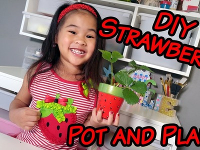 DIY Strawberry Pot and Plant | Cute Hand-Painted Flower Pot Tutorial | Strawberry Themed Crafts DIYs