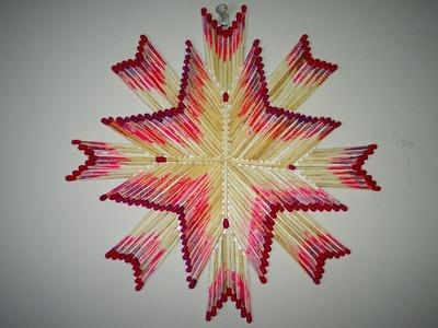 DIY   Wall Mat Decoration. Matchstick Craft   Made with Matchstick  