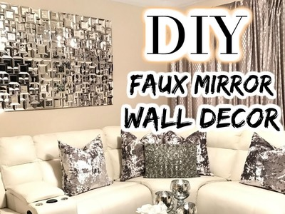 DOLLAR TREE DIY Faux Mirror | THE BEST DIY Home Decor.Wedding 2017