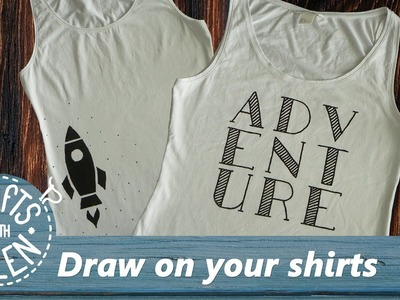 Draw typography on your shirt (and more)   DIY Tutorial