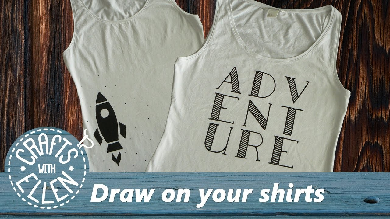 Draw typography on your shirt (and more) | DIY Tutorial