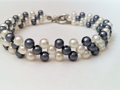 Easy Beading Pattern for Beginners. Mother's Day DIY Bracelet