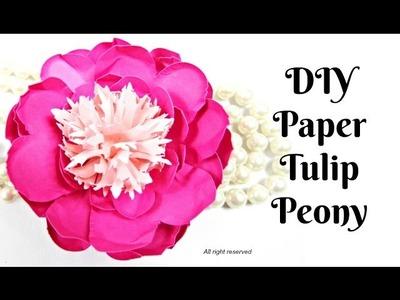 Easy DIY Tulip Paper Peony Flowers